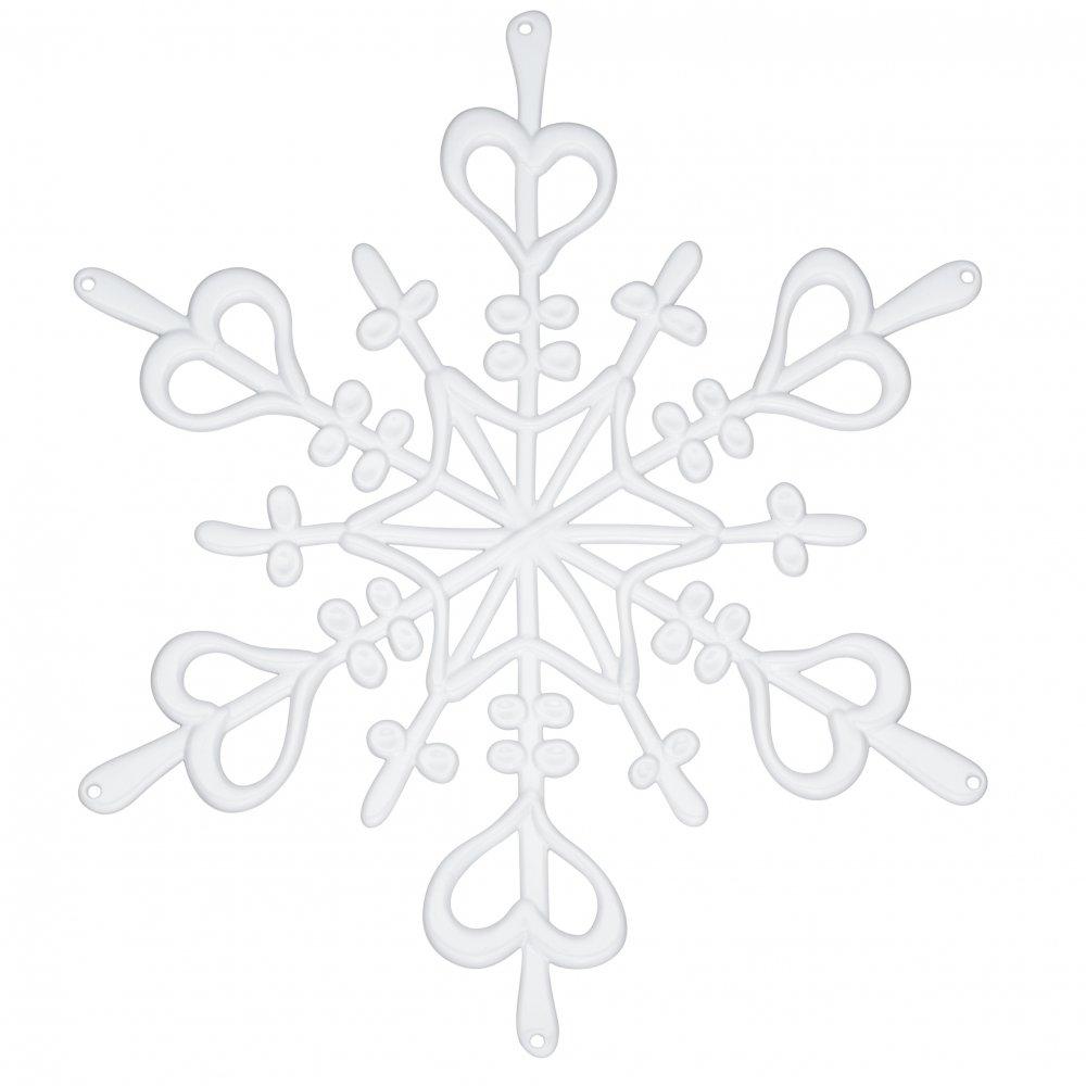 FLAKE L Dekostern 2er-Set weiß