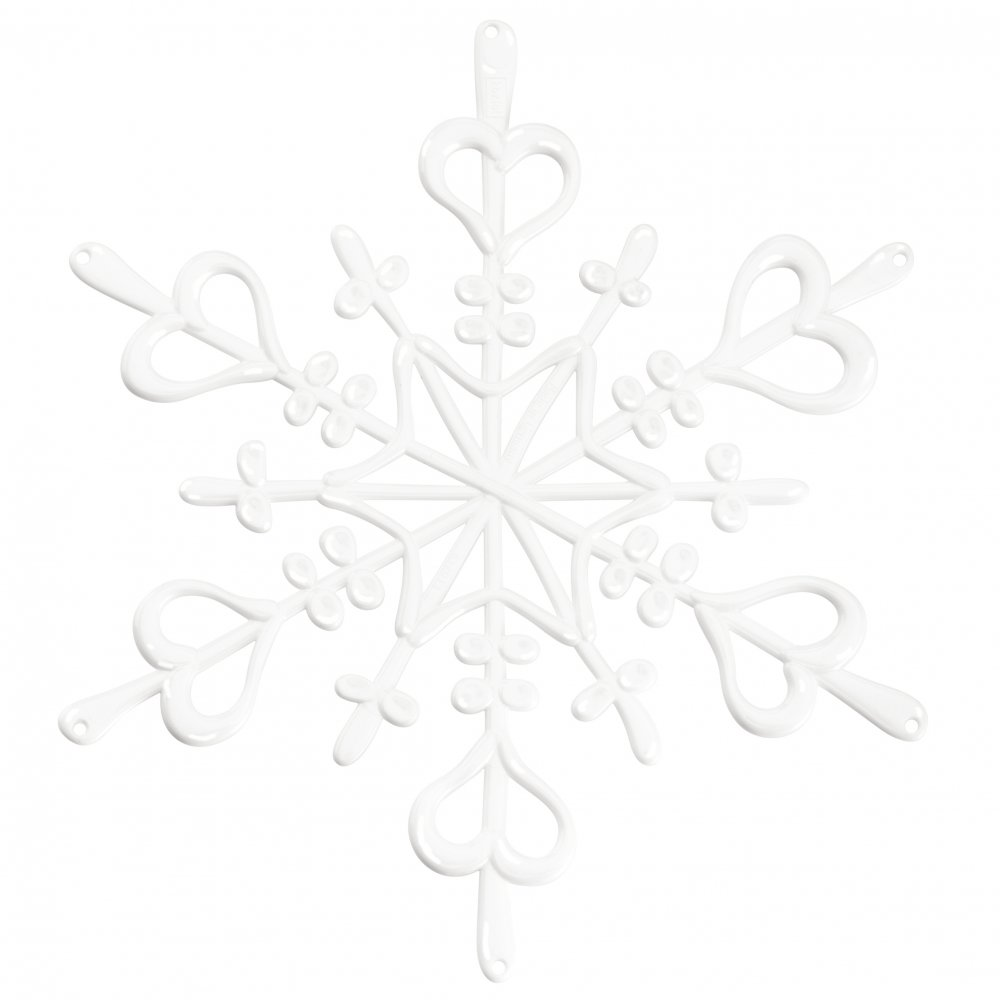 FLAKES XS Ornament Set of 4 white