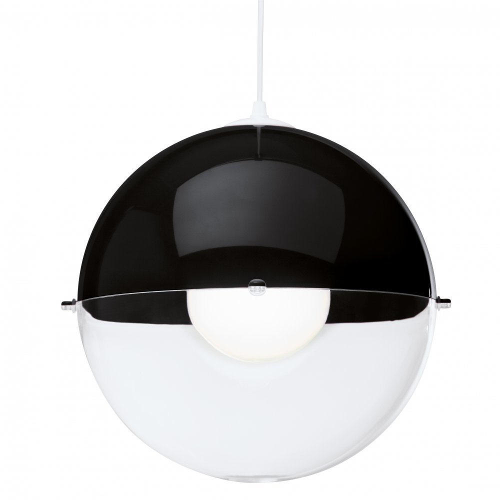 ORION Hanging Light crystal clear/cosmos black