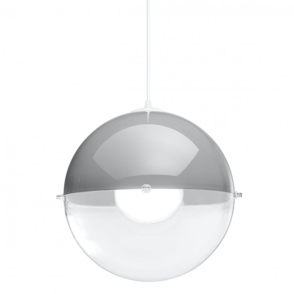 ORION Pendelleuchte crystal clear/cool grey