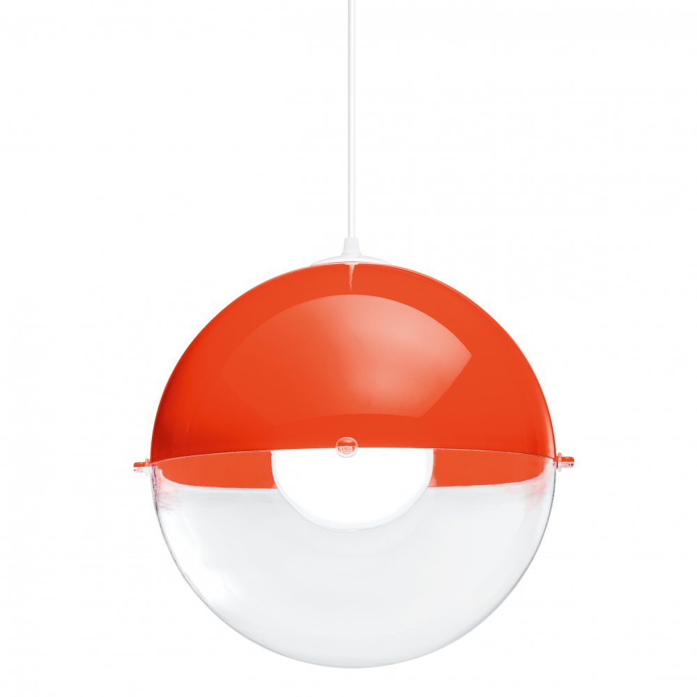 ORION Hanging Light crystal clear/sunset orange