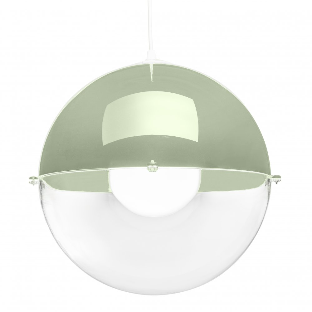ORION Hanging Light eucalyptus green-crystal clear