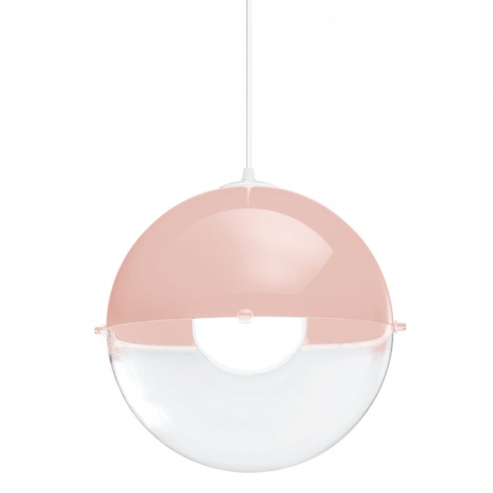 ORION Pendelleuchte crystal clear/powder pink