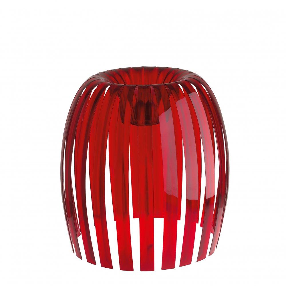 JOSEPHINE XL Lampenschirm transparent red