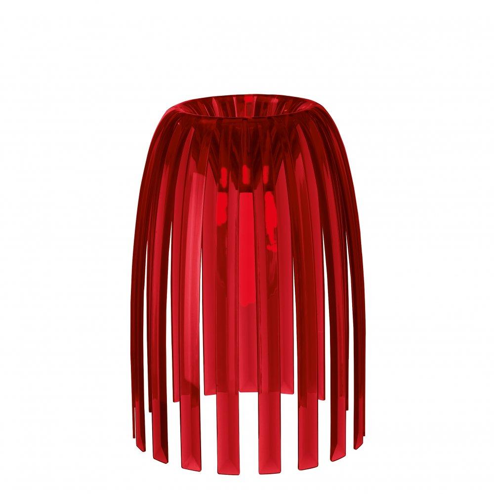 JOSEPHINE S Lampenschirm transparent red