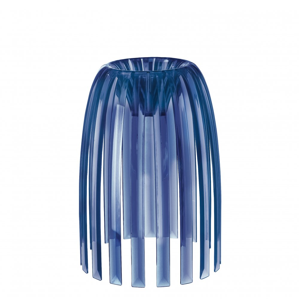 JOSEPHINE S lampshade transparent deep velvet blue
