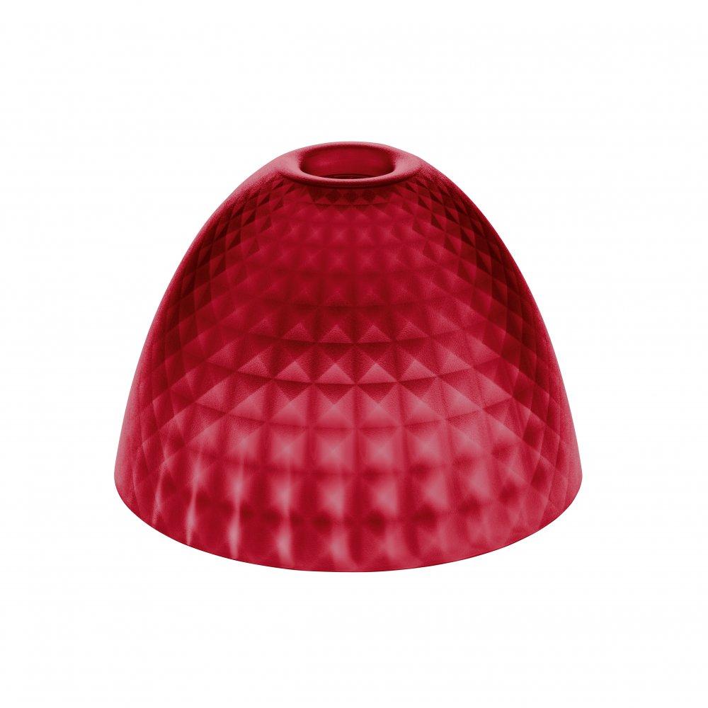 STELLA SILK S Lampenschirm transparent red