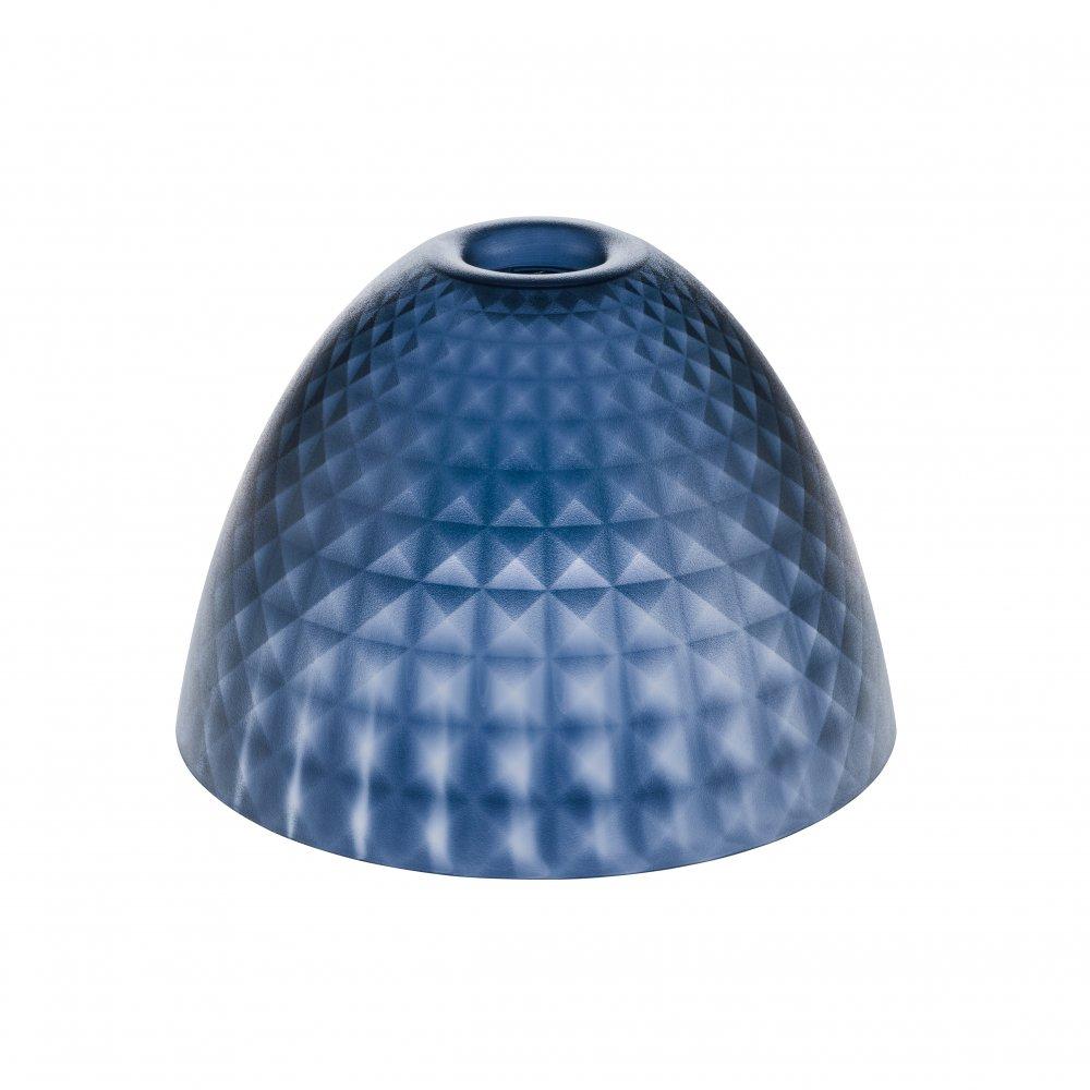 STELLA SILK S Lampenschirm transparent deep velvet blue