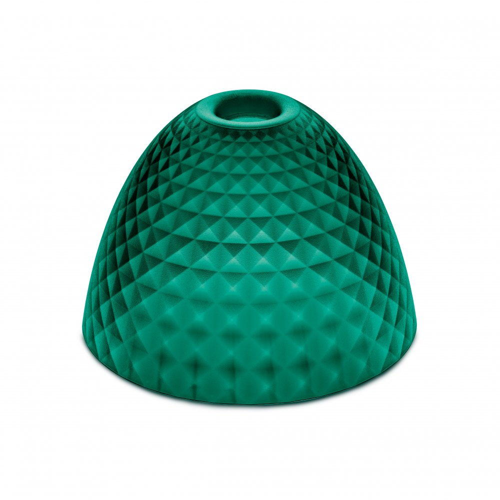 STELLA SILK S lampshade transparent emerald green