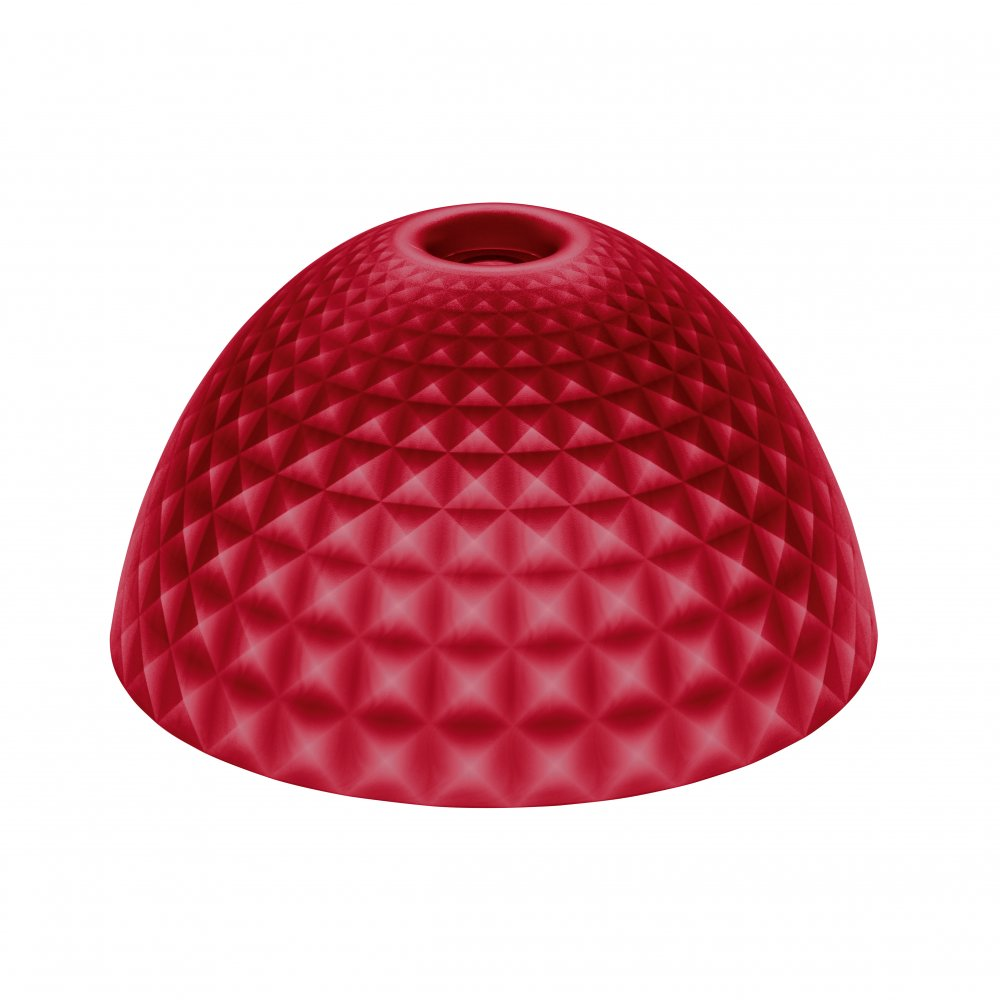 STELLA SILK M lampshade transparent red