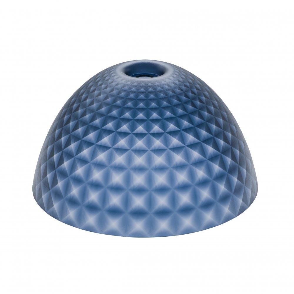 STELLA SILK M Lampenschirm transparent deep velvet blue