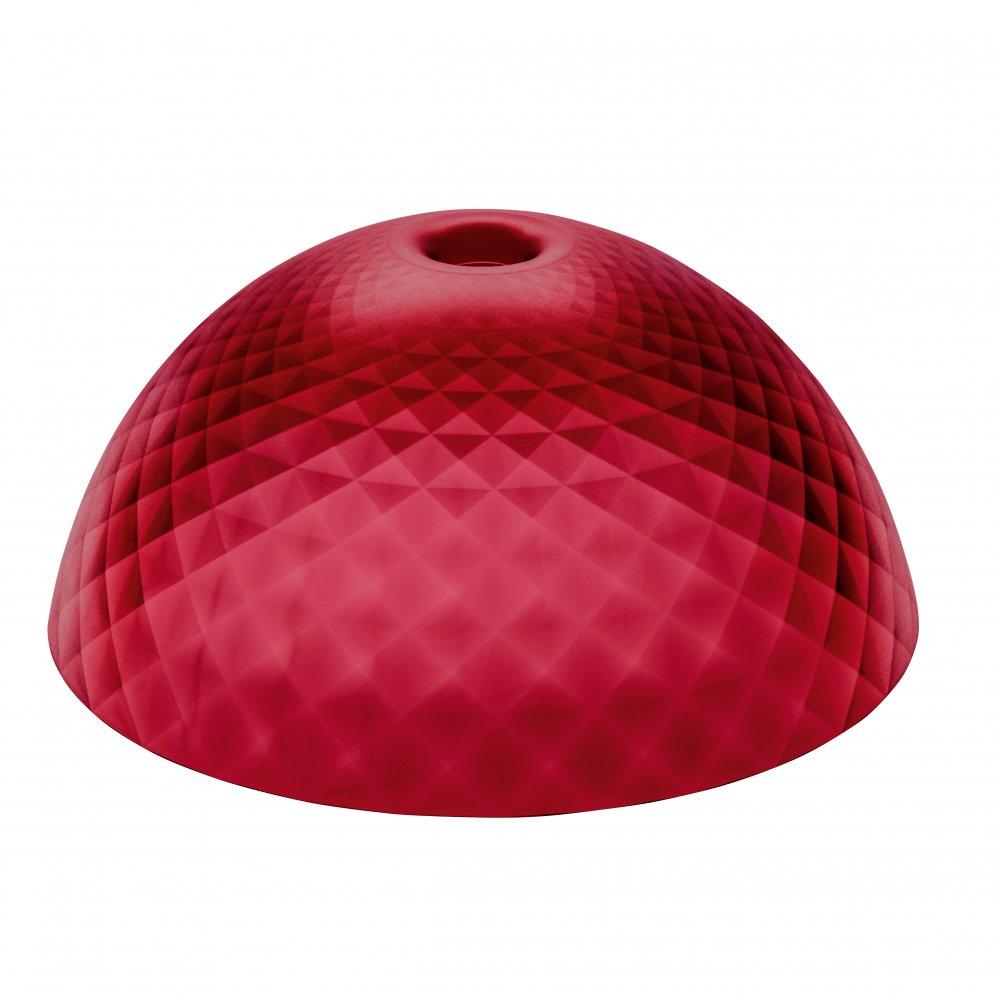 STELLA SILK XL Lampenschirm transparent red