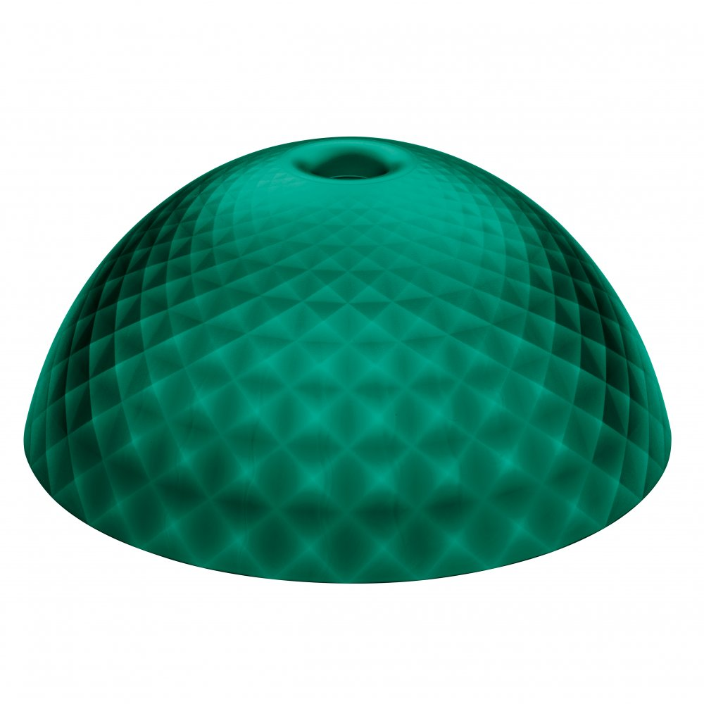 STELLA SILK XL lampshade transparent emerald green