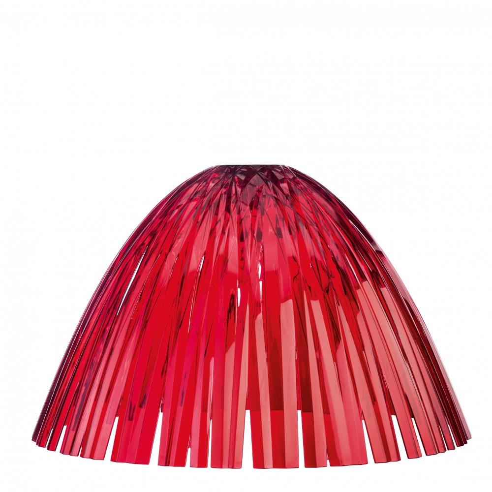 REED Lampenschirm transparent red