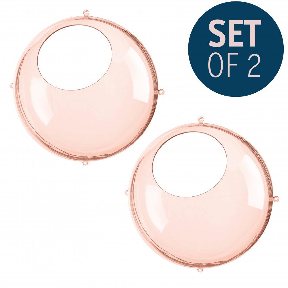 ORION Hängedisplay 2er-Set transparent rose quartz