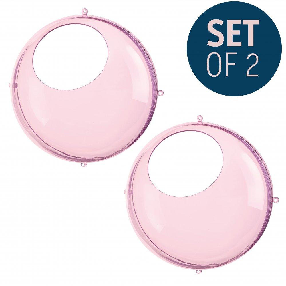 ORION Hanging Display Set of 2 transparent pink