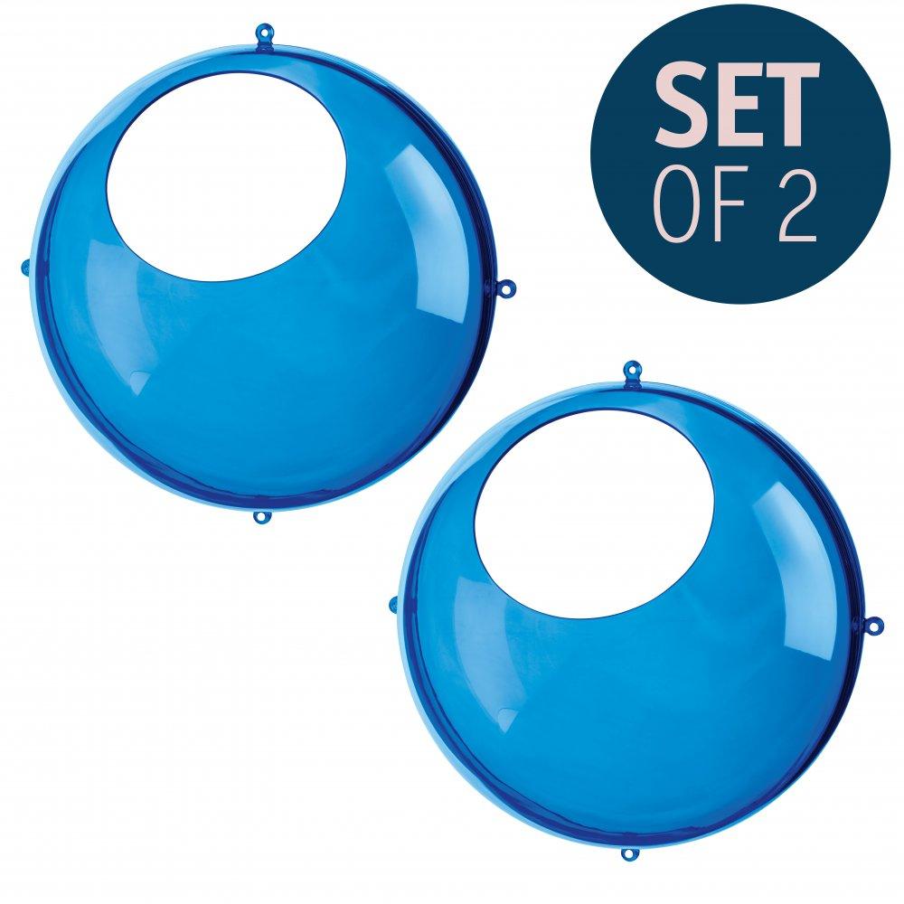 ORION Hanging Display Set of 2 transparent azure blue