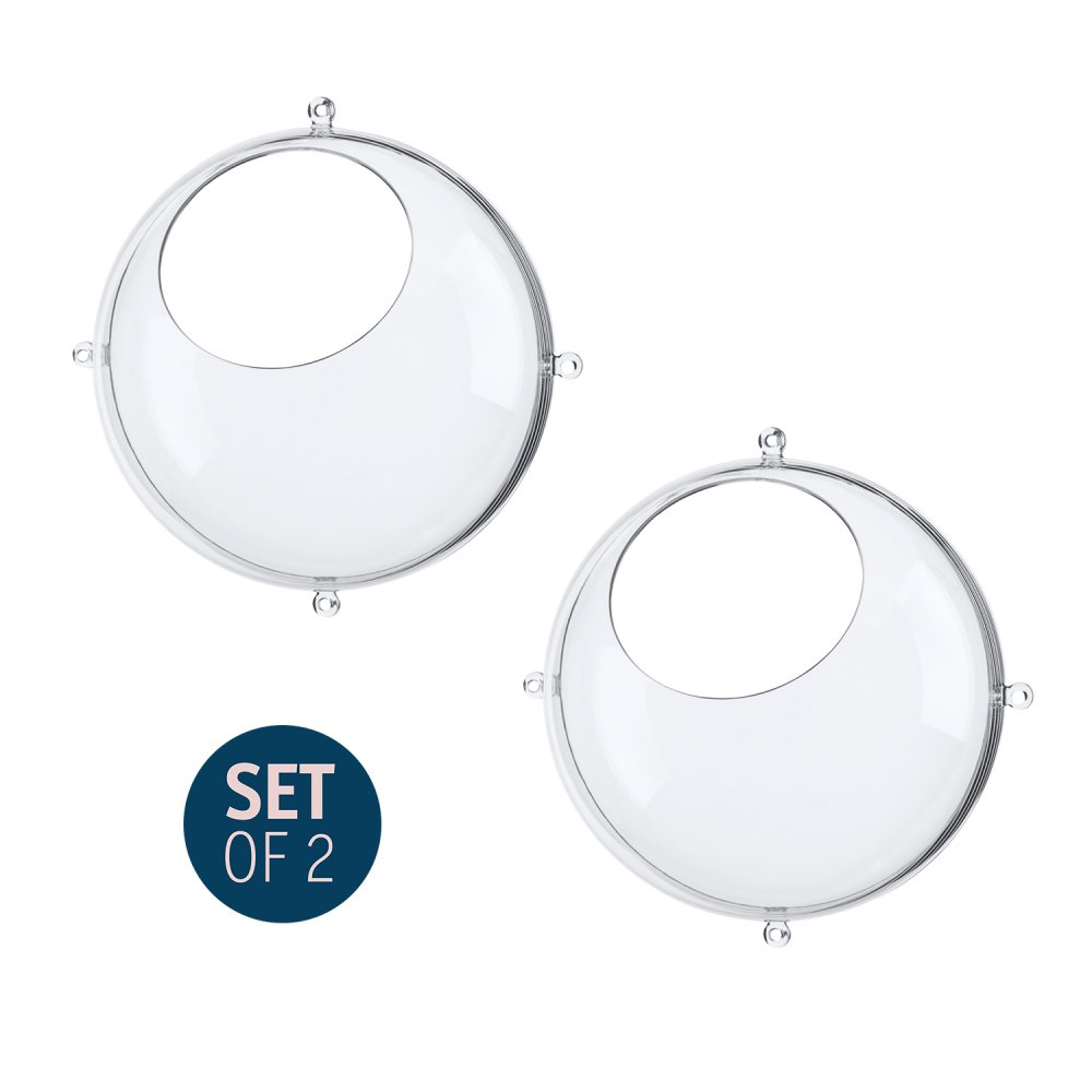ORION SMALL Hanging Display Set of 2 crystal clear