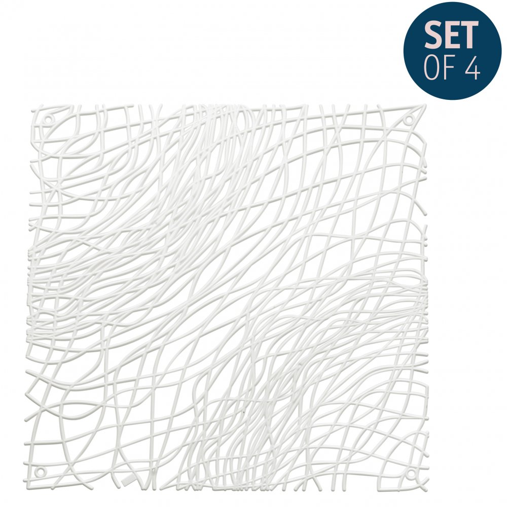 SILK Raumteiler Dekoelement 4er-Set cotton white