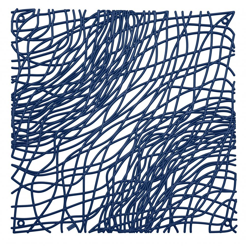 SILK Raumteiler Dekoelement 4er-Set deep velvet blue