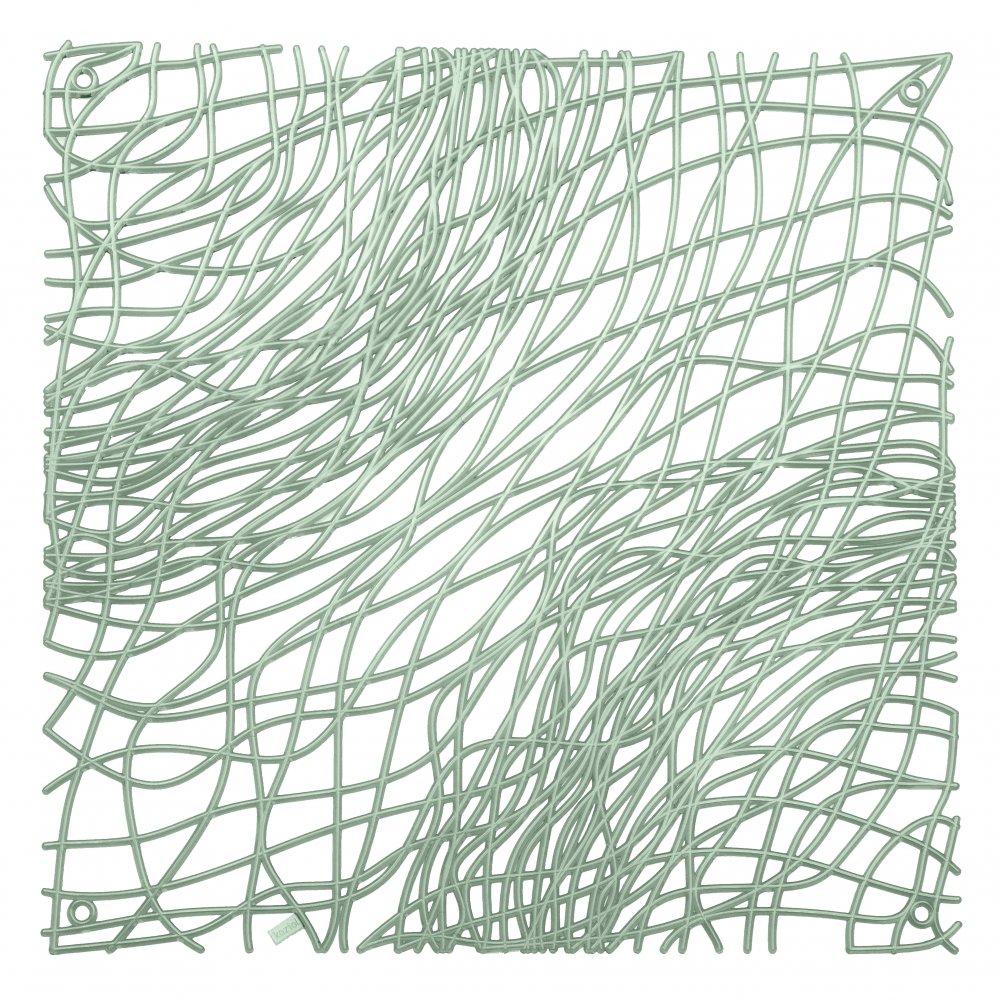 SILK Raumteiler Dekoelement 4er-Set transparent eucalyptus green