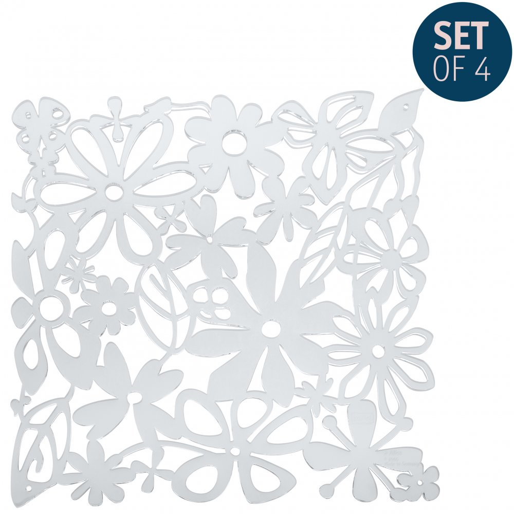 ALICE Room divider Ornament Set of 4 crystal clear