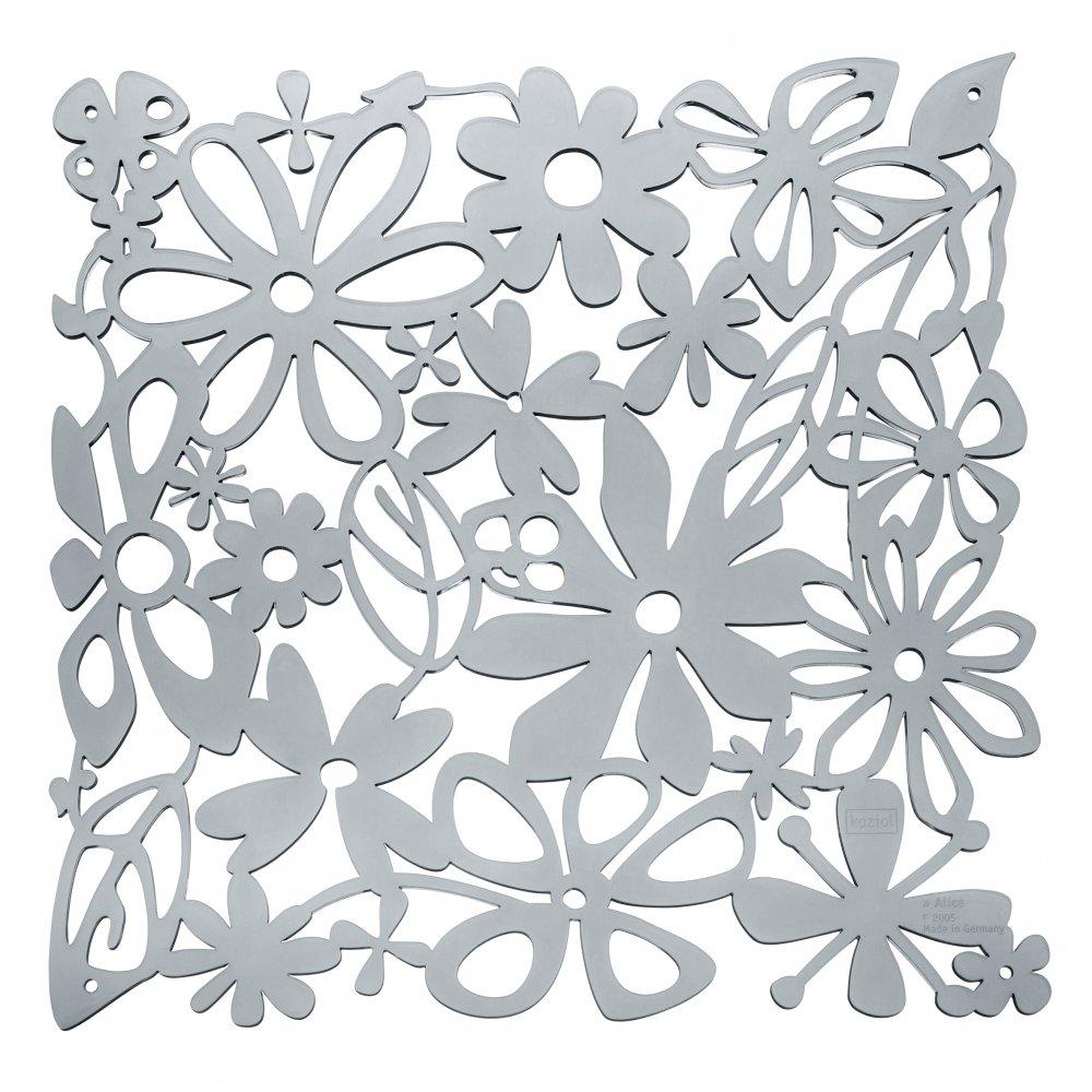 ALICE Room divider Ornament Set of 4 transparent grey