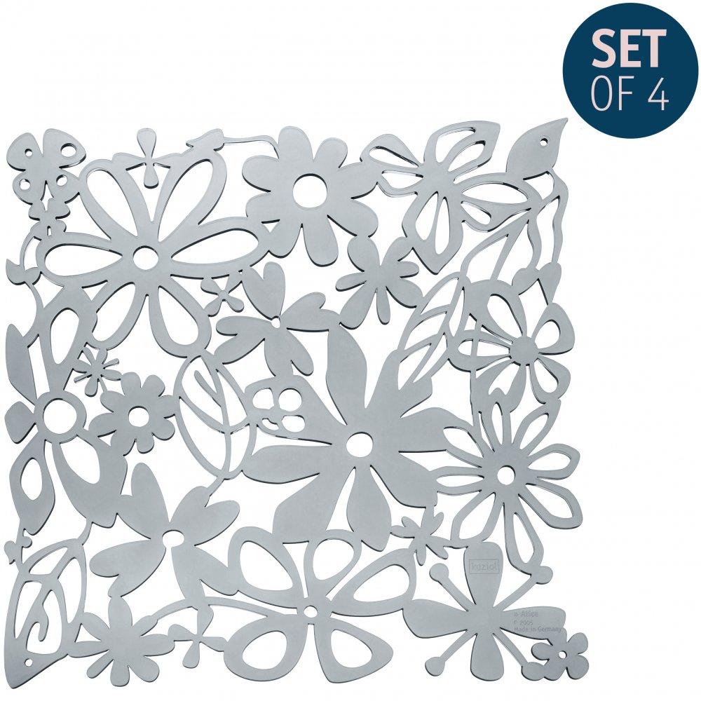 ALICE Raumteiler Dekoelement 4er-Set transparent grey