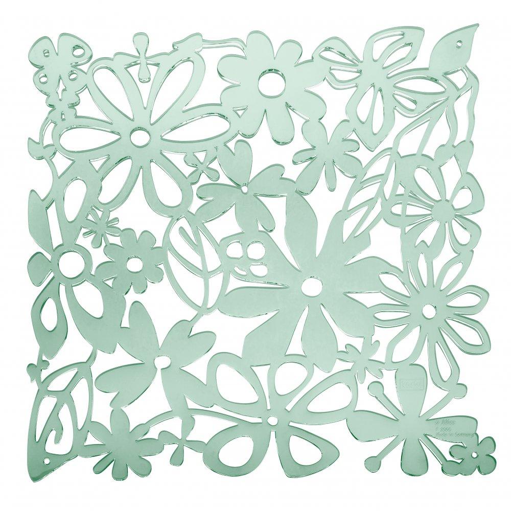 ALICE Room divider Ornament Set of 4 transparent eucalyptus green