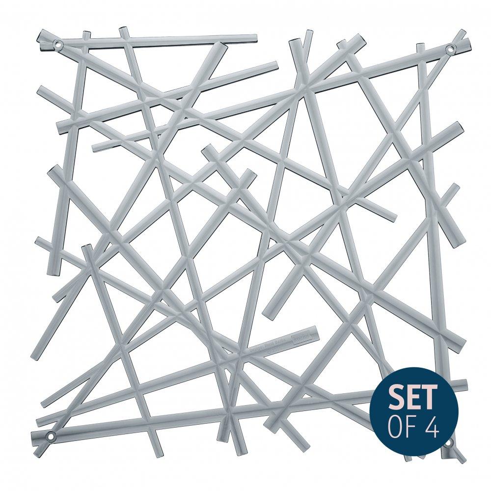 STIXX Raumteiler Special 4er-Set transparent grey