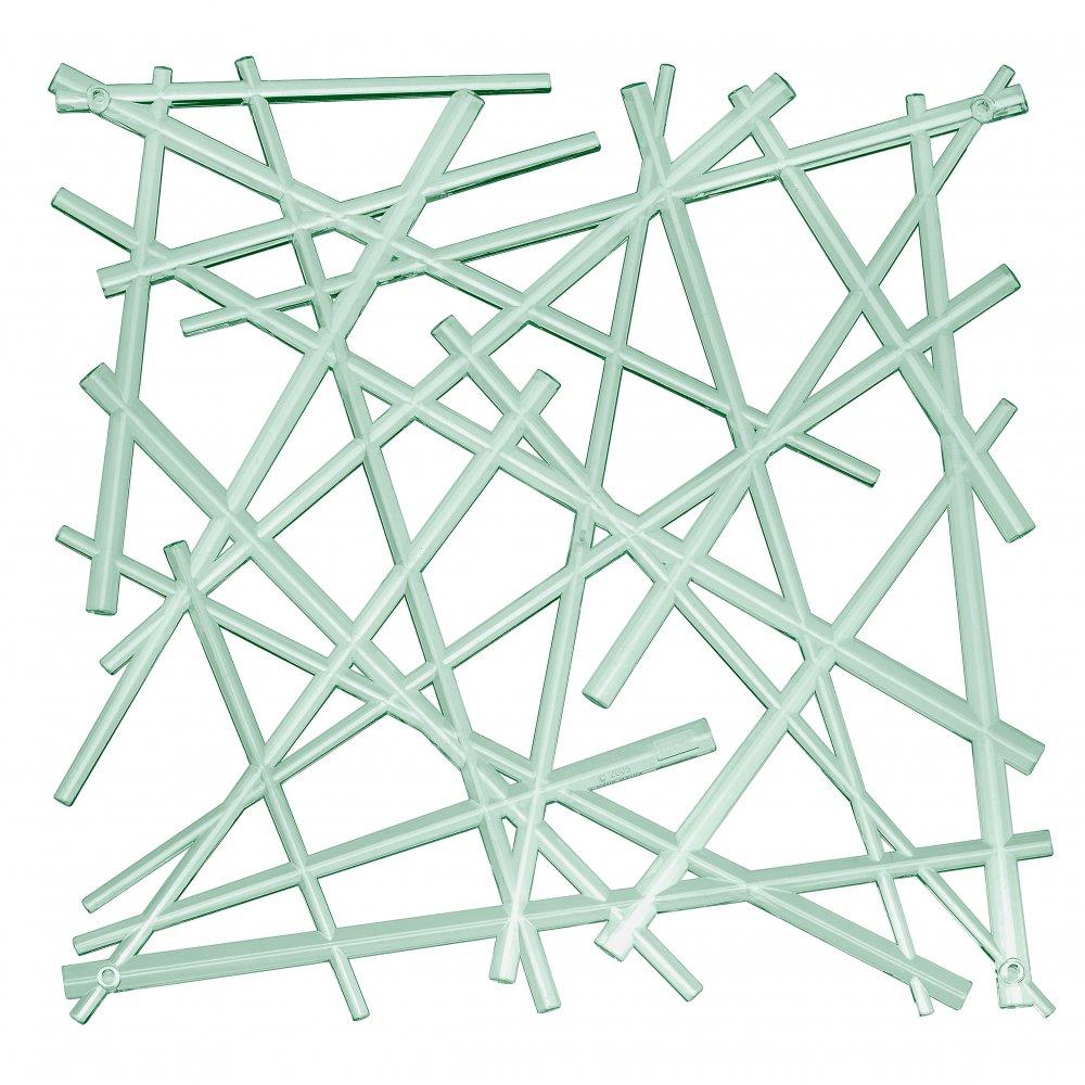 STIXX Raumteiler Dekoelement 4er-Set transparent eucalyptus green