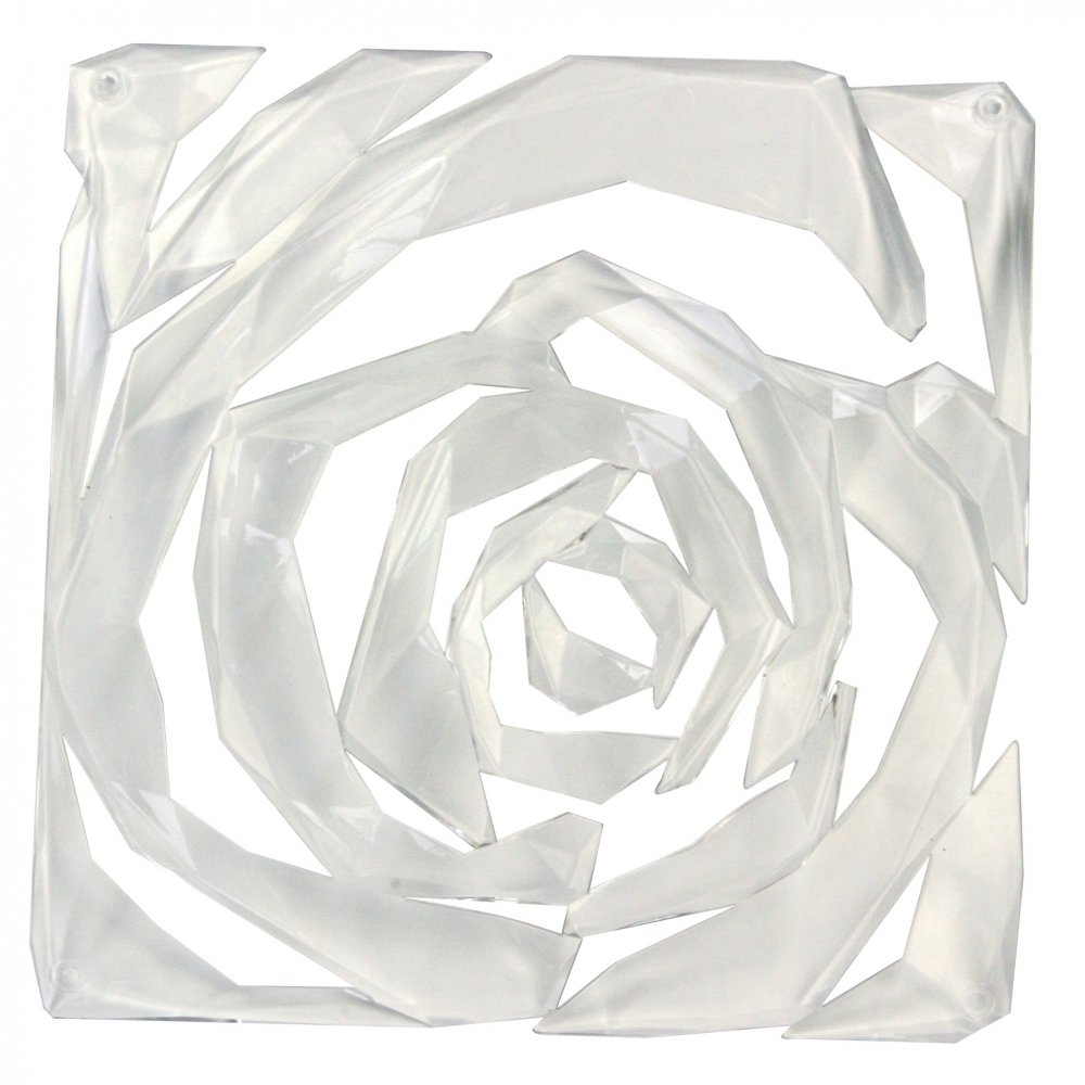 ROMANCE Room divider Ornament Set of 4 crystal clear