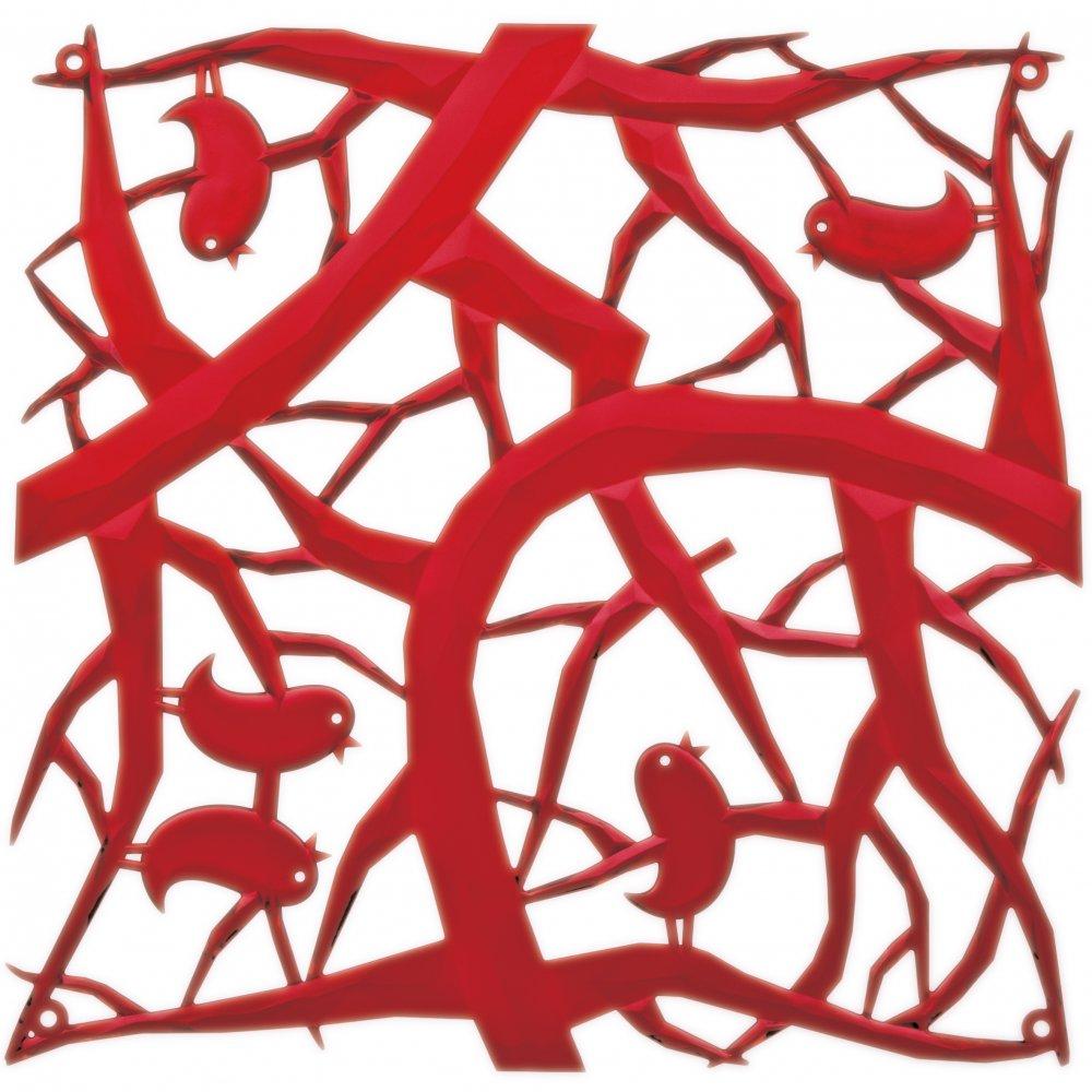 [pi:p] Raumteiler Dekoelement 4er-Set transparent red