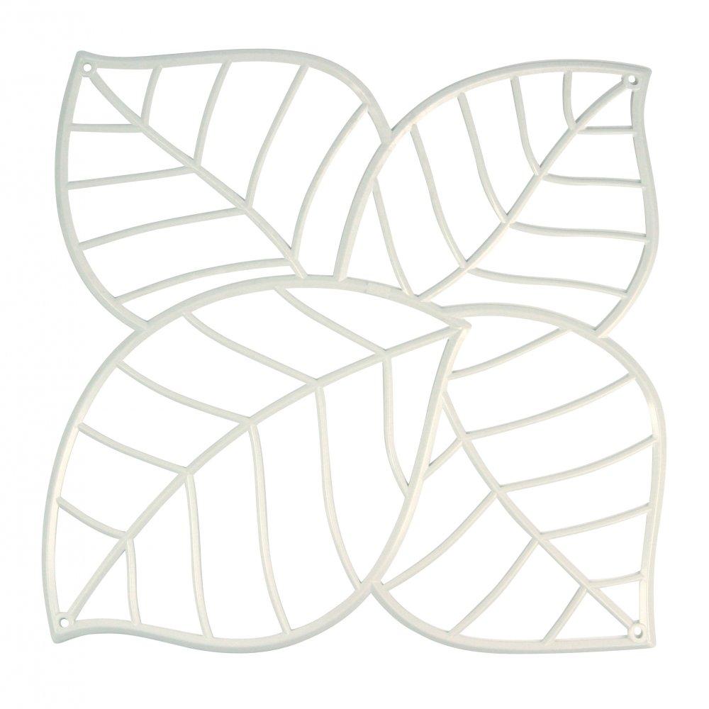 LEAF Raumteiler Dekoelement 4er-Set cotton white
