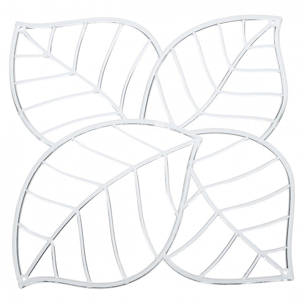 LEAF Raumteiler Dekoelement 4er-Set crystal clear