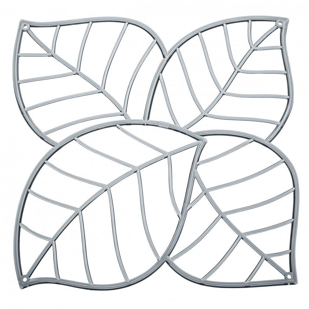 LEAF Raumteiler Dekoelement 4er-Set transparent grey