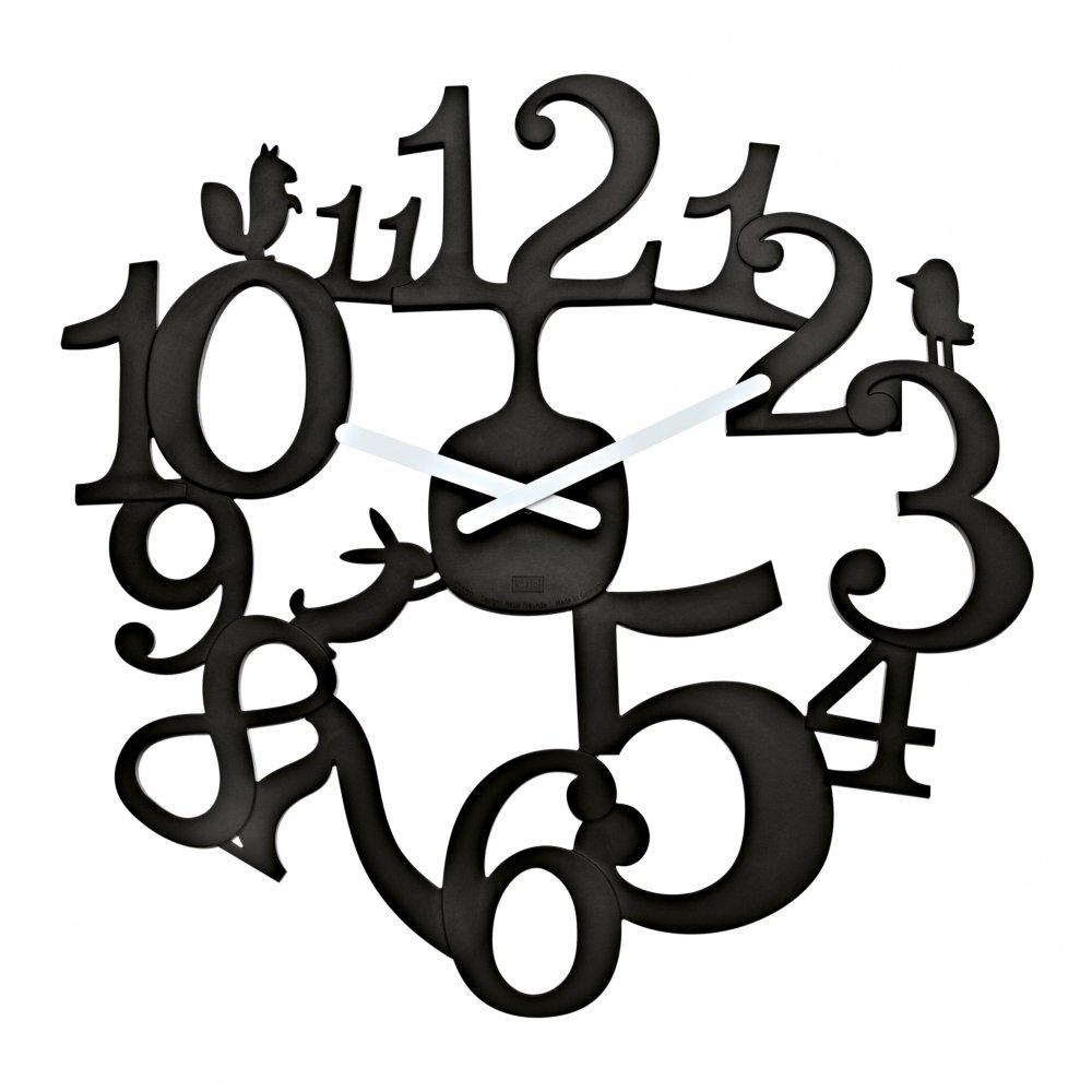 [pi:p] Wall Clock cosmos black