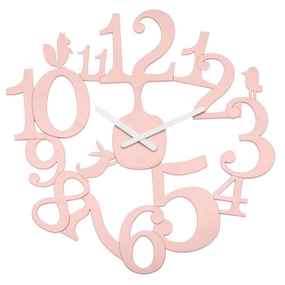 [pi:p] Wall Clock powder pink