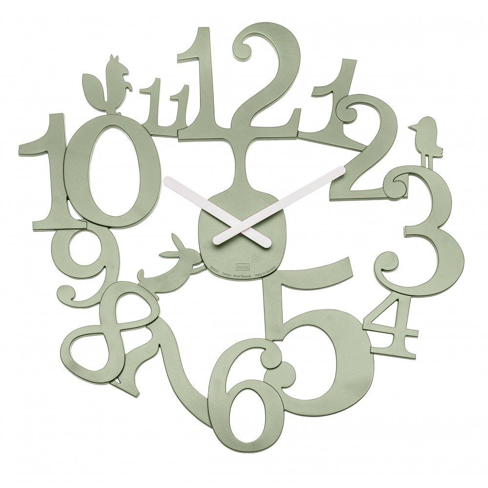 [pi:p] Wall Clock eucalyptus green