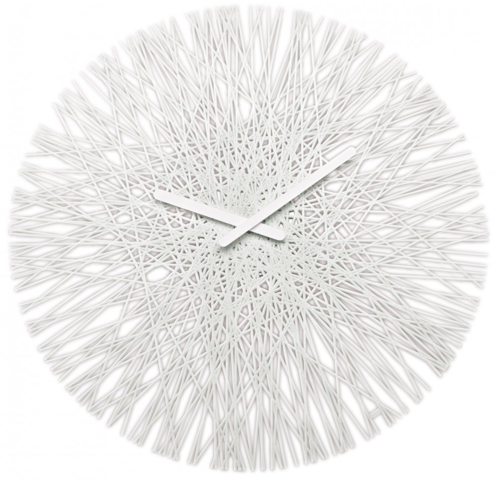 SILK Wall Clock cotton white