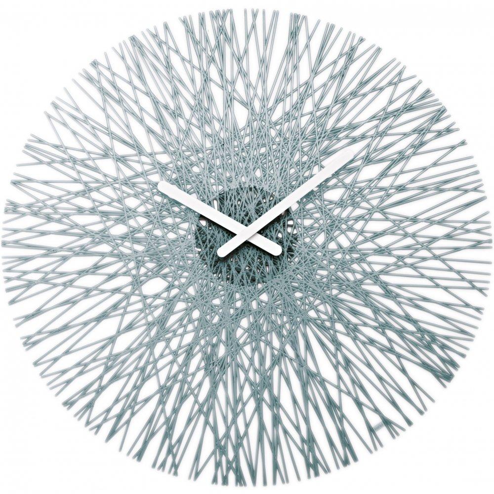 SILK Wall Clock transparent grey