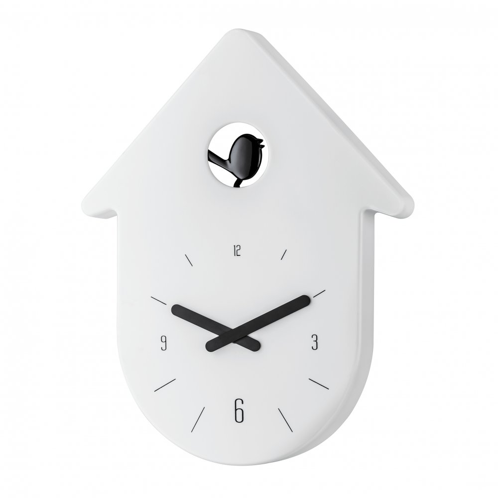 TOC-TOC Wanduhr cotton white-cosmos black