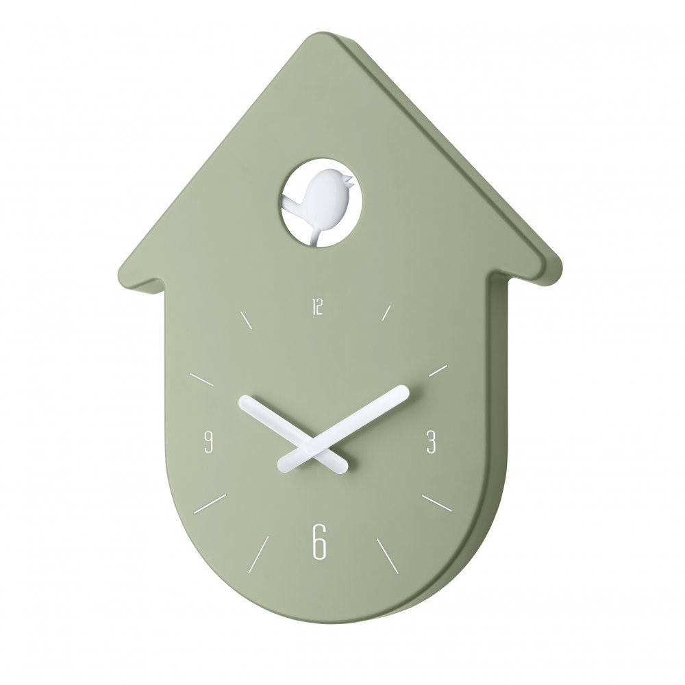 TOC-TOC Wall Clock eucalyptus green-cotton white