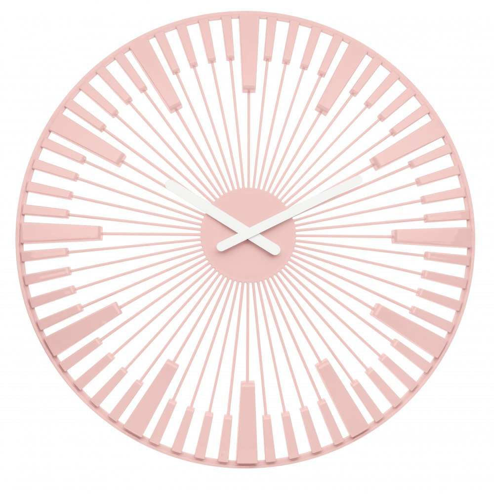 PIANO Wanduhr powder pink