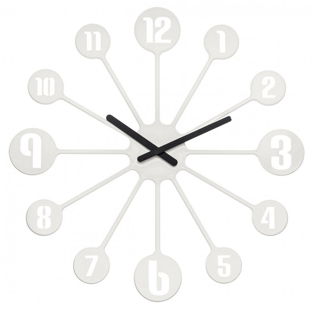 PINBALL Wall Clock cotton white