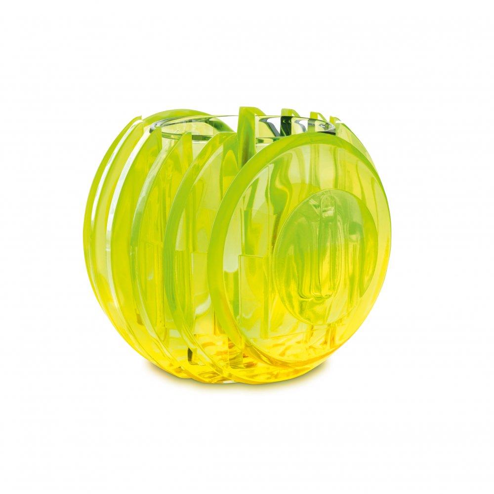 RAY Windlicht transparent neon yellow