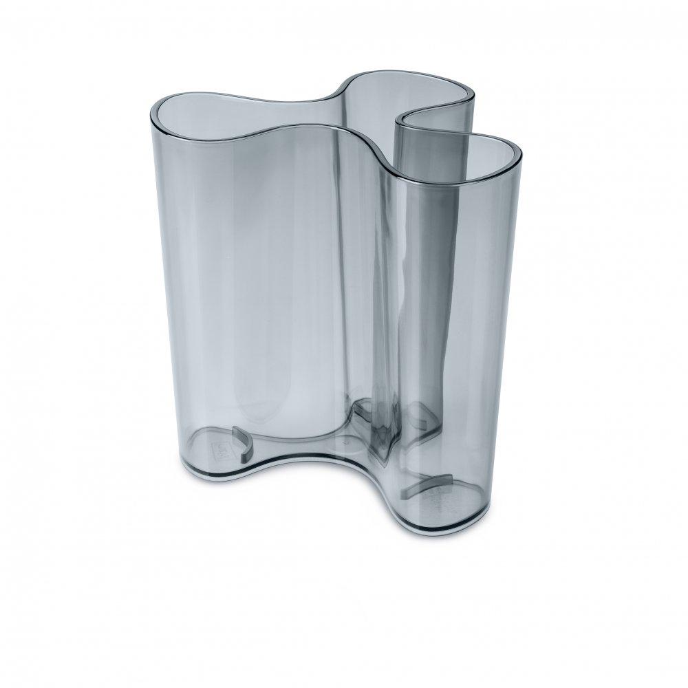 CLARA M Vase transparent grey