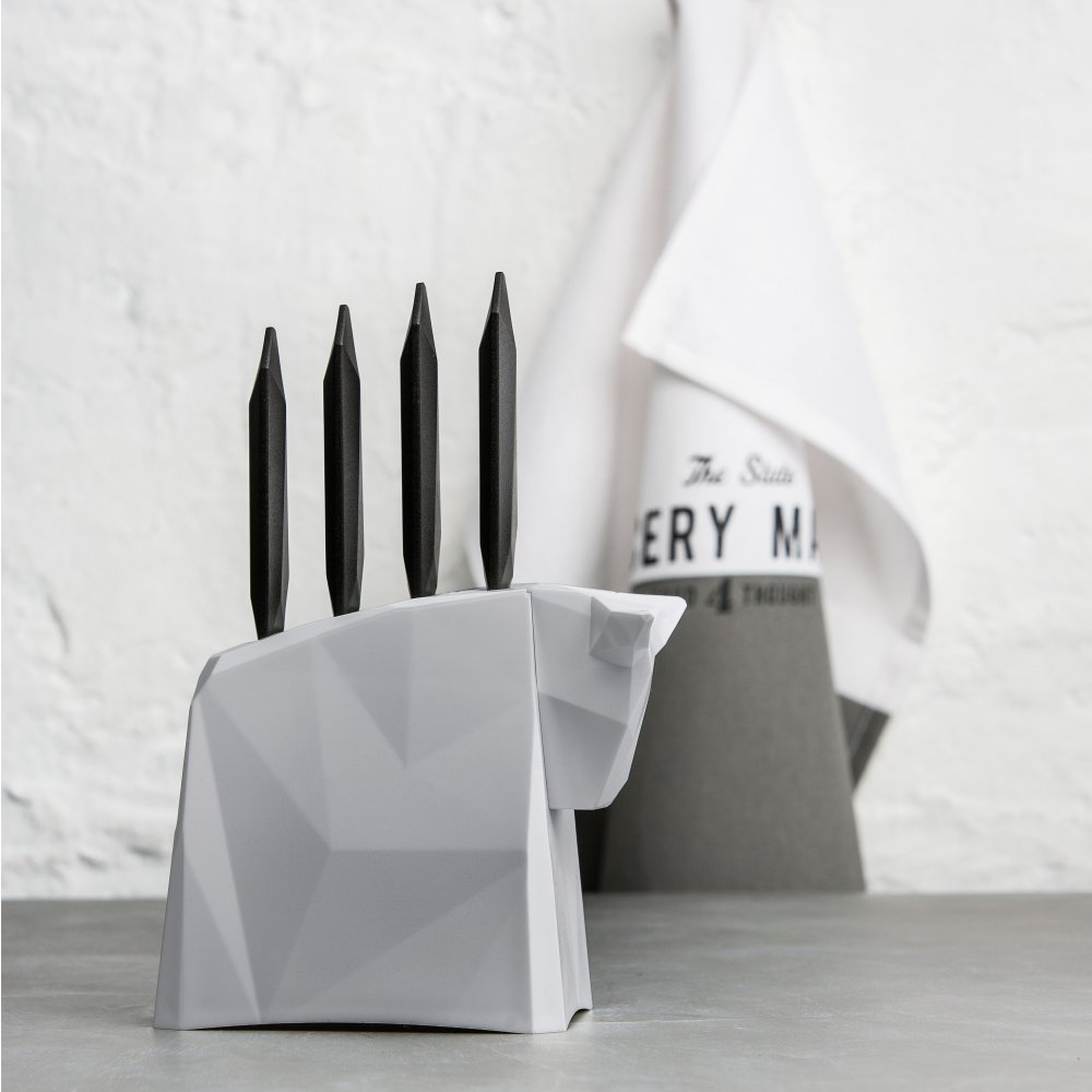 PABLO Knife Stand with Steak Knives
