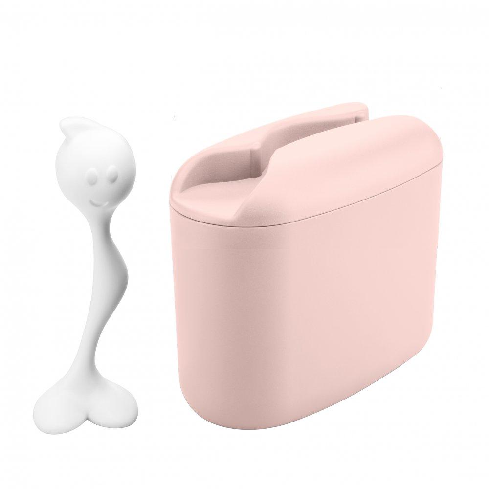 HOT STUFF M Vorratsdose 350g queen pink-cotton white