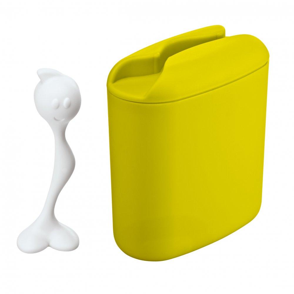 HOT STUFF L Storage Container 500g mustard green-cotton white